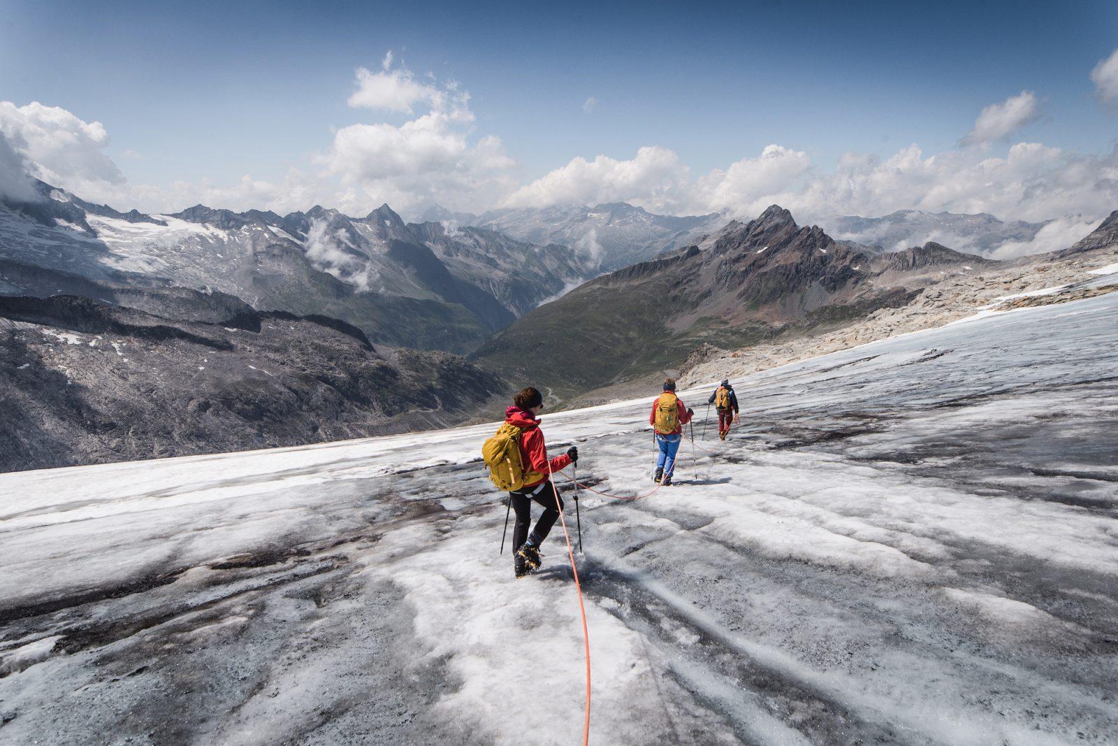 Bergseiten im Hochalpinen Gelände