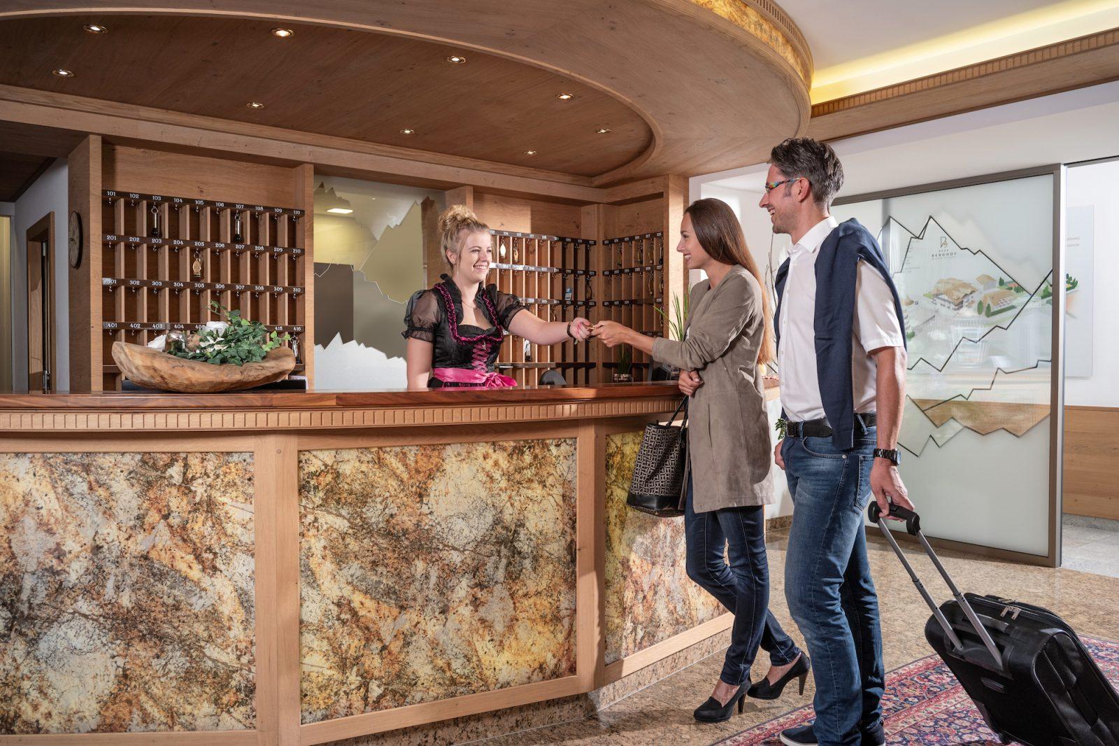 Rezeption Hotel Berghof